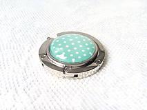 Drobnosti - Retro bag holder (light green/mini white dots) - 8578638_