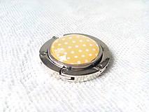 Drobnosti - Retro bag holder (yellow/mini white dots) - 8578652_