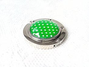 Drobnosti - Retro bag holder (green/mini white dots) - 8578661_