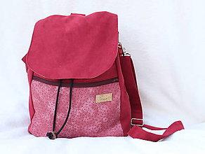 Batohy - 2 v 1 ruksak bordový XL - 8579538_
