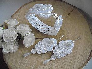 Sady šperkov - Soutache náramok Tereza s náušnicami Viola - 8576618_
