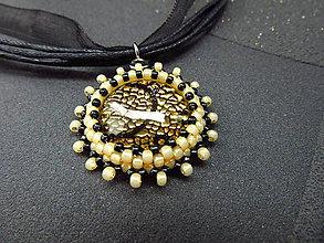 Náhrdelníky - Černozlatavý II. - 8580170_