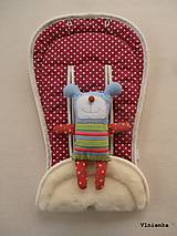 Textil - MERINO podložka do kočíka BUGABOO Bee / Buffalo/ Cameleon/ Donkey/ Joolz 100% WOOL Seat Liner BODKA Bordová - 8578451_