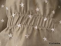 Textil - Spací vak pre deti a bábätká ZIMNÝ 100% MERINO na mieru Hviezdička sivá - 8580569_
