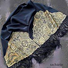 Šály - Zlatá priadka- luxusný hodvábny šál - 8579376_