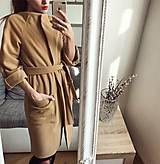 Kabáty - Flaušový kabát - 8578882_