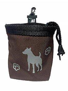 Pre zvieratká - Reflexný pamlskovník Doggie hnedý - 8577886_