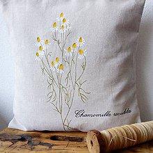Úžitkový textil - Vankúš - kamilky - 8576662_