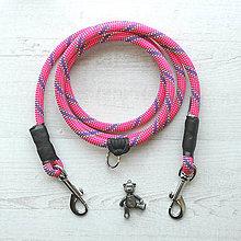 Pre zvieratká - Lanové vodítko FLEXI / raspberry10 mm - 8577448_