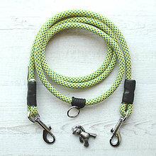 Pre zvieratká - Lanové vodítko FLEXI / lemon blue 10 mm - 8577453_