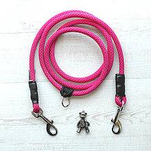 Pre zvieratká - Lanové vodítko FLEXI / cherry 10 mm - 8579638_