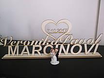 Dekorácie - Nápis na svadobný stôl - 8578437_
