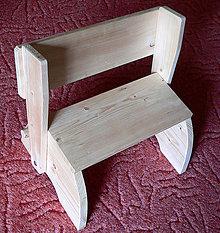 Nábytok - Detské schodíky so stoličkou - 8579547_