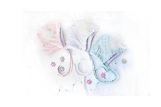 Detské čiapky - Zimná minky čiapka baby & blue - 8576619_
