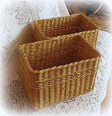 Košíky - Košík prírodný - 8577398_