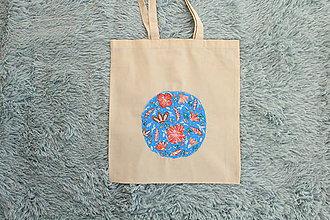 Nákupné tašky - Nákupná taška kvetinová planéta - 8578989_