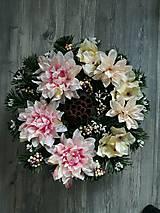 Dekorácie - Veniec, Ikebana na hrob, cintorin, na dusicky - 8579956_