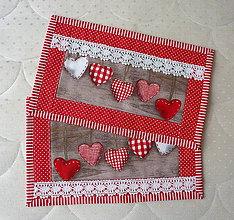 Úžitkový textil - Malé prestieranie - Srdiečka - 8579676_