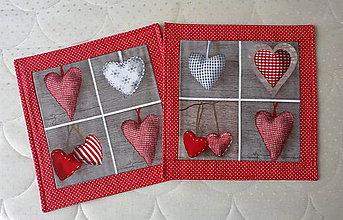 Úžitkový textil - Návliečka na vankúšik - srdiečka - 8579745_