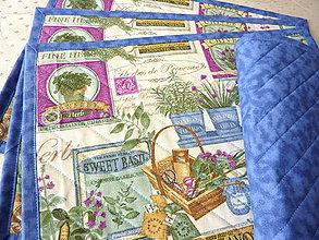 Úžitkový textil - Prestieranie - bylinkové - modré - 8579770_