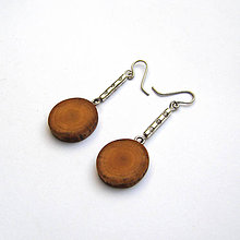Náušnice - Špaltovaná breza - halúzkové krúžky - 8580363_