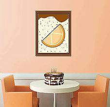 Dekorácie - Sladká stracciatella grafika - pomaranč - 8578763_
