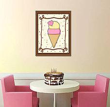 Grafika - Sladká stracciatella grafika (zamilovaná zmrzlina) - 8579165_