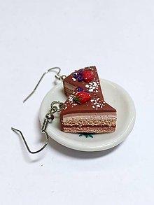 Náušnice - Náušnice dortíky s jahodami - 8583173_