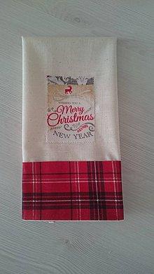 Úžitkový textil - Dekoračná utierka Christmas time - 8582878_
