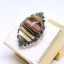 Prstene - Vintage Silver Cherry Quartz Ring / Výrazný prsteň s cherry krištáľom v starostriebornom prevedení /0491 - 8581159_