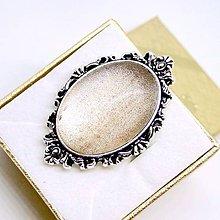Prstene - Vintage Silver Goldstone Ring / Výrazný prsteň so synt. Goldstone v starostriebornom prevedení /0491 - 8583696_