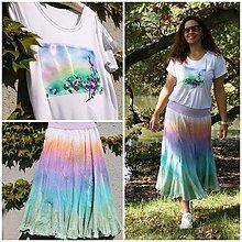 Šaty - Komplet v barvách duhy - 8583944_