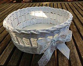 Dekorácie - Svadobný košíček - 8583156_