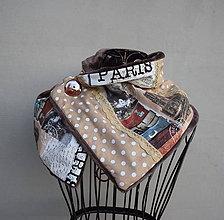 Šály - Paris...hřejivý šál - 8583724_