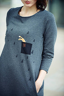 Šaty - Šaty s líškou - 8582160_