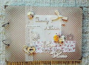 Papiernictvo - Rodinný bodkovaný fotoalbum - 8582144_