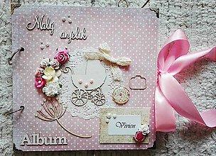 Papiernictvo - Ružový fotoalbum pre dievčatko - 8583166_