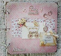 Papiernictvo - Ružový fotoalbum pre dievčatko - 8583206_