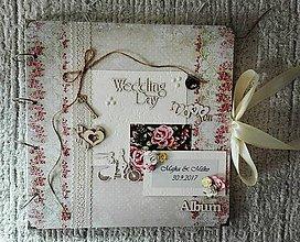 Papiernictvo - Viintage svadobný fotoalbum - 8583212_