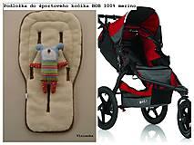 Textil - Podložka do športového bežeckého kočíka BOB REVOLUTION 100% MERINO Hviezdička béžová B.O.B. - 8581048_