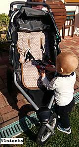 Textil - Podložka do športového bežeckého kočíka BOB REVOLUTION 100% MERINO Hviezdička béžová B.O.B. - 8581099_