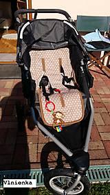 Textil - Podložka do športového bežeckého kočíka BOB REVOLUTION 100% MERINO Hviezdička béžová B.O.B. - 8581182_