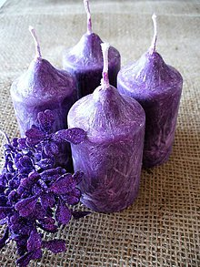 Svietidlá a sviečky - adventné sviečky/ palmový vosk - 8582619_