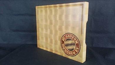 Pomôcky - Doska na krájanie s logom futbalového klubu Bayern Munchen - 8580745_