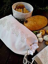 Ľanové vrecko z ručne tkaného plátna