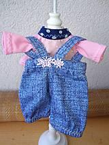 - Tričko a nohavice pre bábiku- veľ. 25, 27 cm - 8581594_