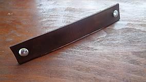 Nábytok - Kožené madlo - na dve skrutky (17x3cm) - 8582145_