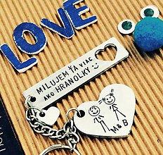 Kľúčenky - MILUJEM ŤA viac ako HRANOLKY :) - 8586145_