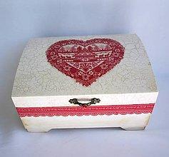 Krabičky - Krabička-Chalúpka v srdci - 8586344_