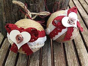 Dekorácie - Vianočné gule folk - 8585417_